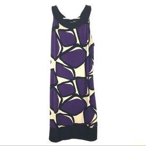 Blu Sage Large Sleeveless A Line Dress Color Block